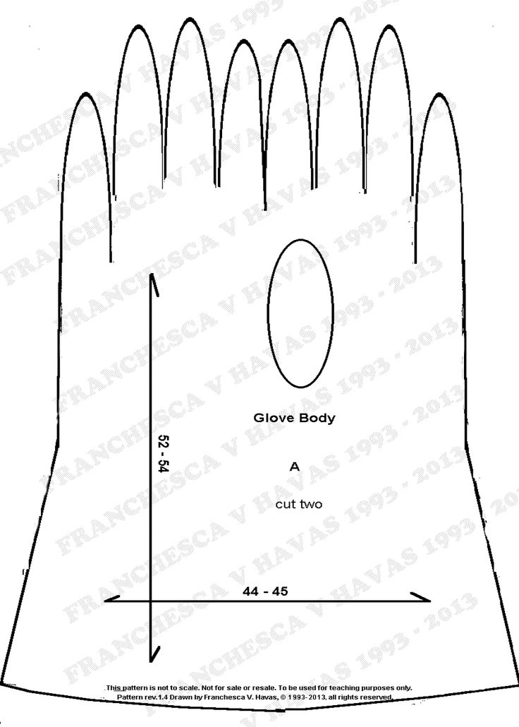 How to make gloves from your measurements. I have long