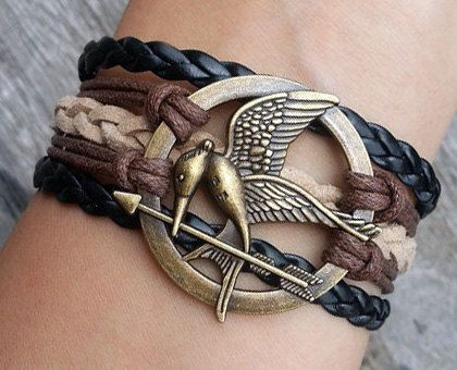 Charm Bracelet- Mockingjay Bracelet, Hunger Games Bracelet
