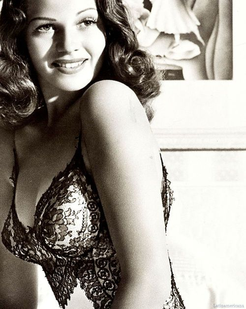 Rita Hayworth    God just doesn't make woman like this anymore.  Taken by Alzheimer's Disease....she was a such a talent and so incredibly beautiful!