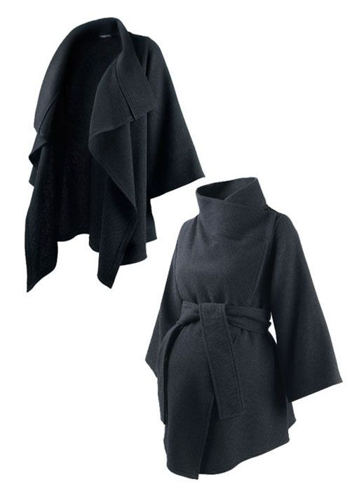 Kimono Wrap- I love this! Maternity wear should be cute and chic, it looks like someone finally got the hint!! I need this for winter when i get bigger
