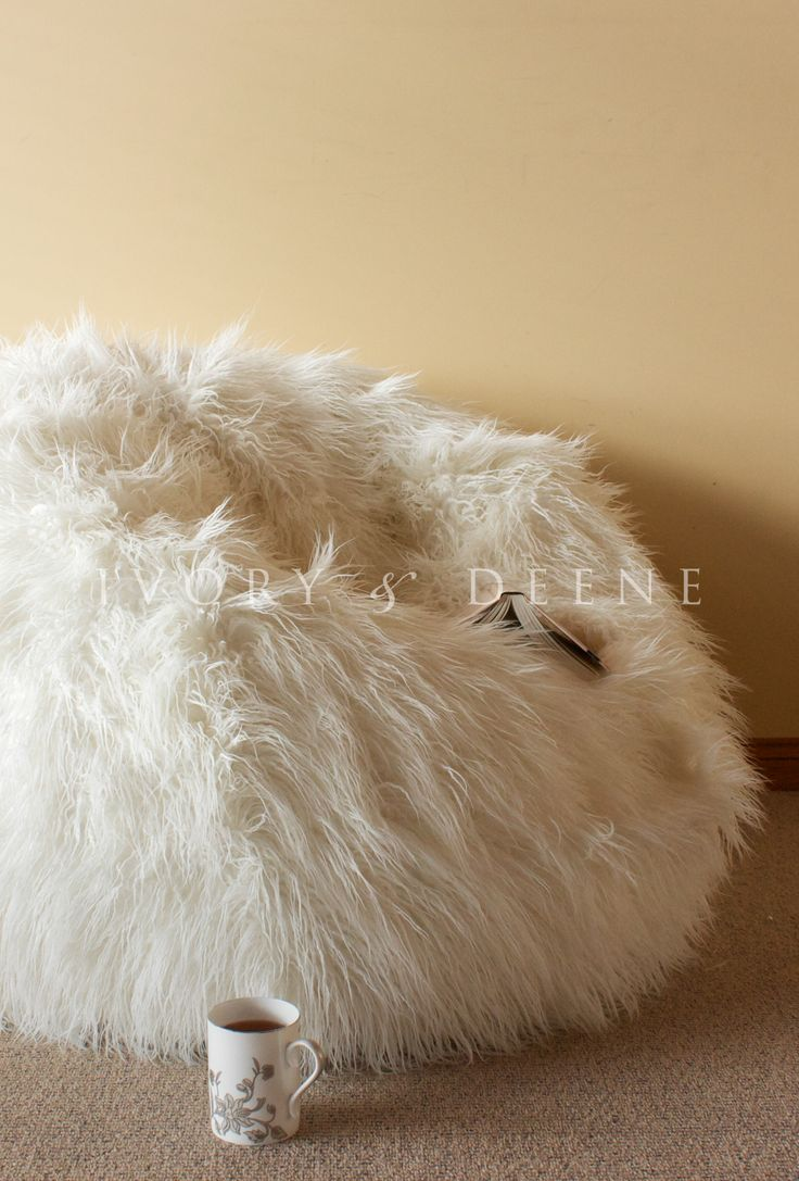 shaggy fur beanbags from Ivory & Deene, free shipping Australia wide and fast worldwide shipping