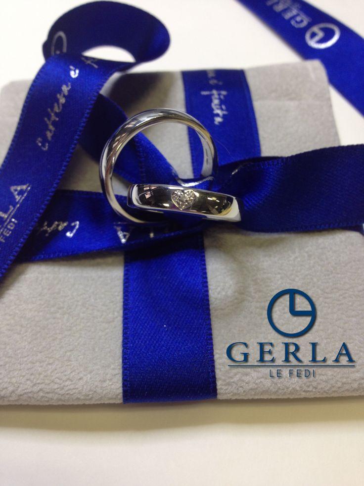 Are u ready to shine? :) Wedding band with heart diamonds! Gerla Le Fedi® #fedi #nuziali #Gerla
