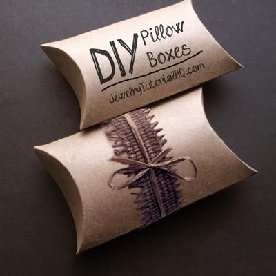 Shoebox Crafts : DIY Make Your Own Pillow Boxes