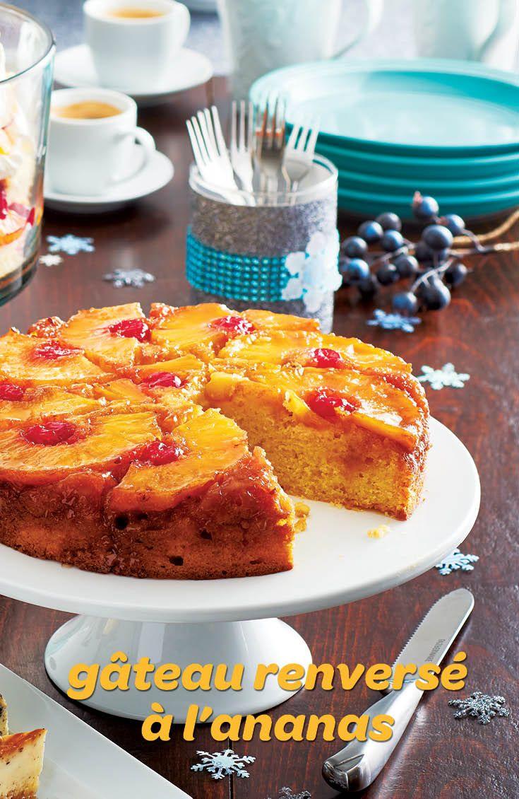 Le goût de ce gâteau classique à deux étages, aux ananas et aux cerises au marasquin, est renversant et est un véritable remontant. Un petit rayon de soleil dans l'assiette!