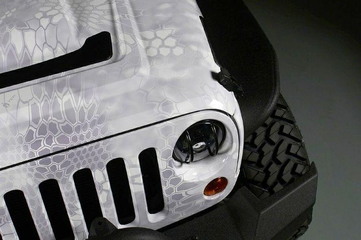 """2013 jeep wrangler kryptek yetti vinyl wrap by """"Rapid Wraps"""""""
