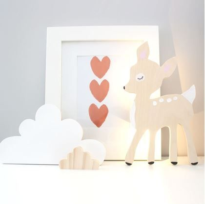 The Wall Collective Night Lights are made from beautiful Birch Plywood and are hand painted and finished. Our Lights emit a soft light so that children can sleep with them on.
