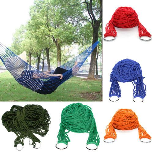 Other Camping & Outdoors - Portable Nylon Hammock Hanging Mesh Sleeping Bed Swing Outdoor Camping Travel for sale in Johannesburg (ID:198258050)