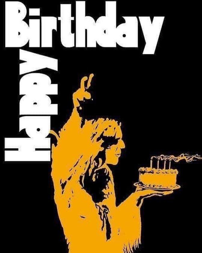 4 027 Likes 44 Comments Black Sabbath Blacksabbath On Instagram Happy Birthday Ozzy Happy Birthday Man Funny Happy Birthday Black Happy Birthday Man