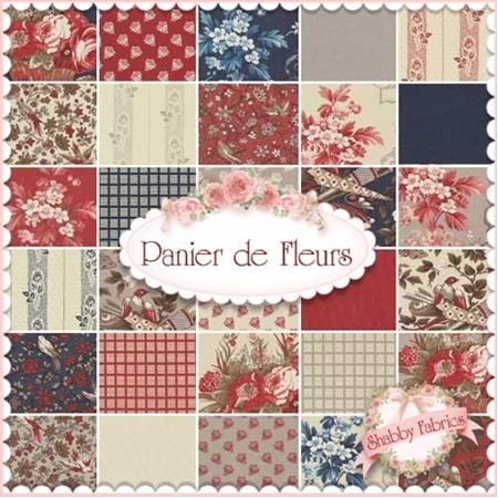 Panier de Fleurs Charm Pack by French General for Moda Fabrics