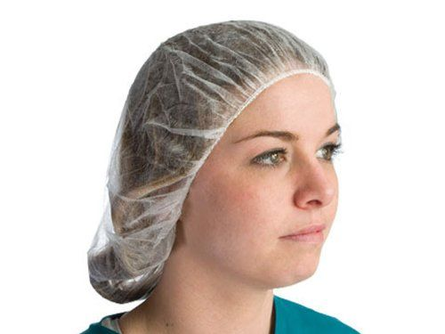"Superior HNPPW Polypropylene Bouffant Hairnet, 21"" Length, White (Bag of 100). Hairnets provide protection for food industry and pharmaceutical applications. Disposable and inexpensive. Superior hairnets and beard covers provide protection for food industry and pharmaceutical applications. Made with a latex elastic edge. Soft spun bonded polypropylene material provides excellent product protection. Polypropylene bouffant hairnet. Soft spun banded polypropylene material provides..."