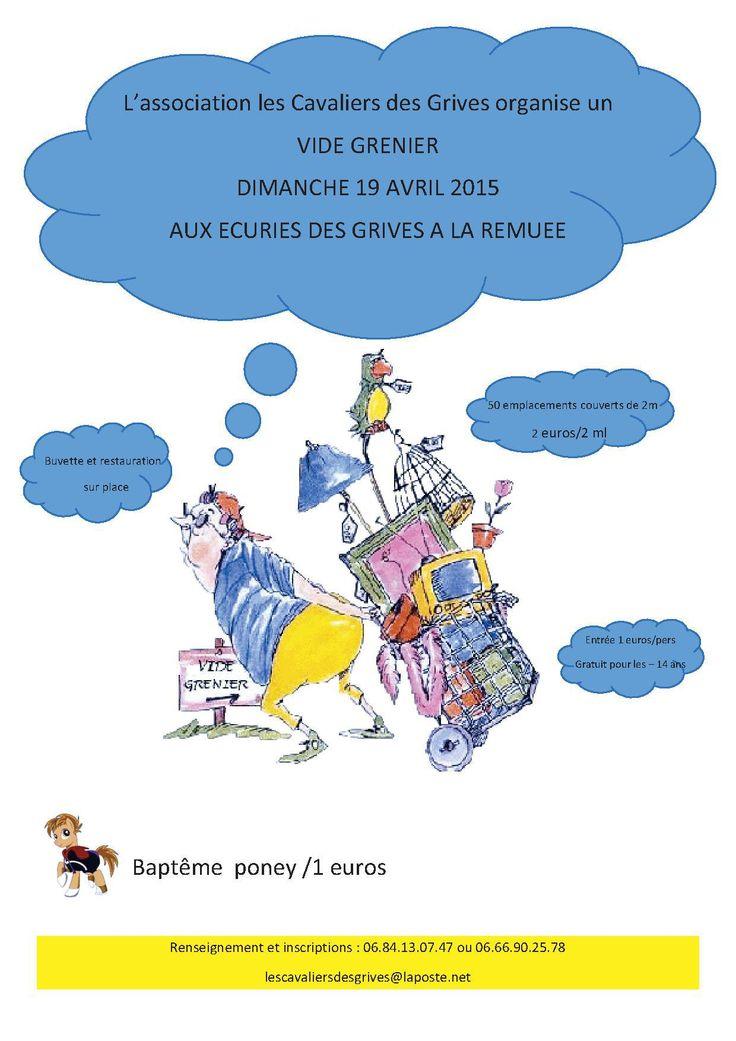 vide grenier le 19 avril 2015 aux écuries des grives à La Remuée - Seine Maritime