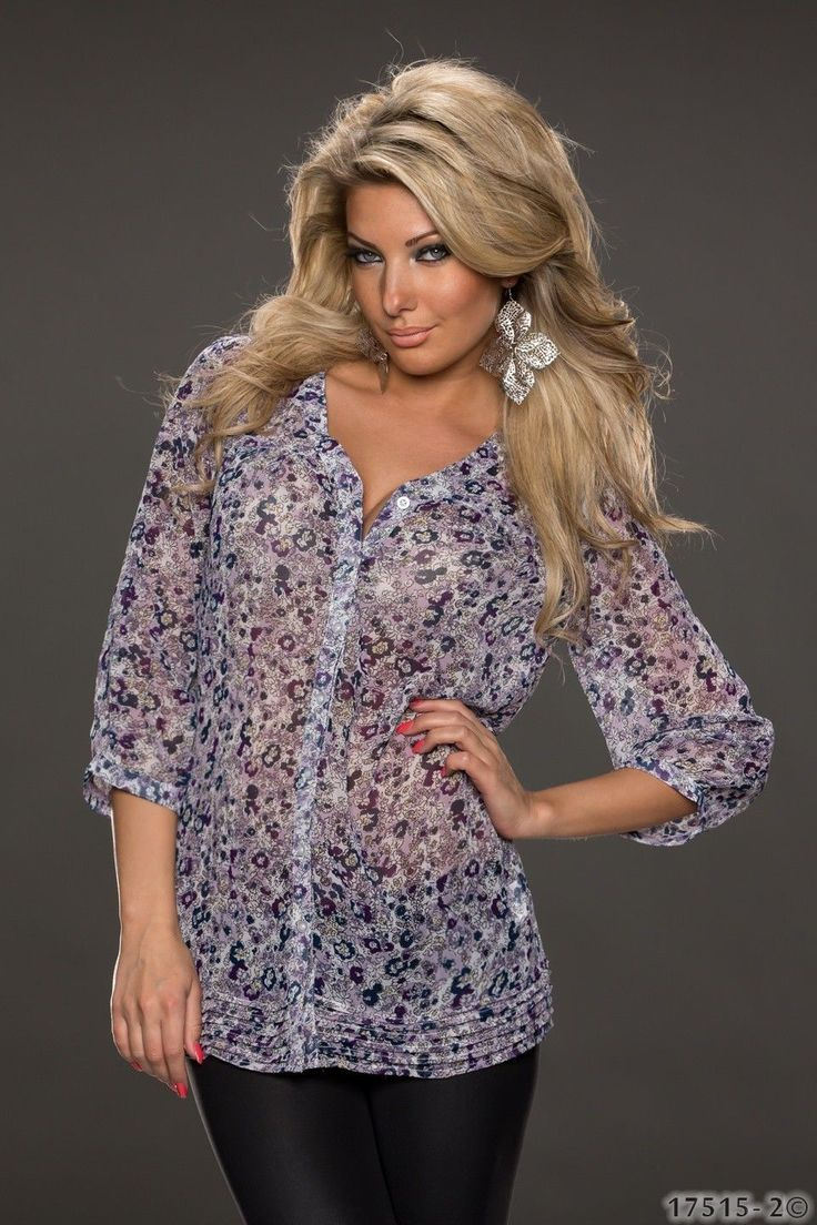 Bequeme Damen #Bluse mit Blumenmuster in vielen Farben. #fashion