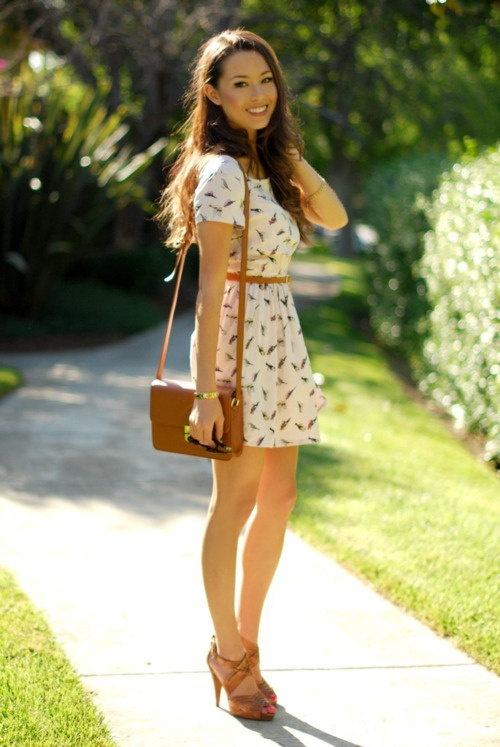 fashion-trends-and-accesories: Birds Prints, Summer Dresses, Adorable Outfits, Church Outfits, Summer Style, Clothing, Cute Outfits, Cute Summer Outfits, The Dresses
