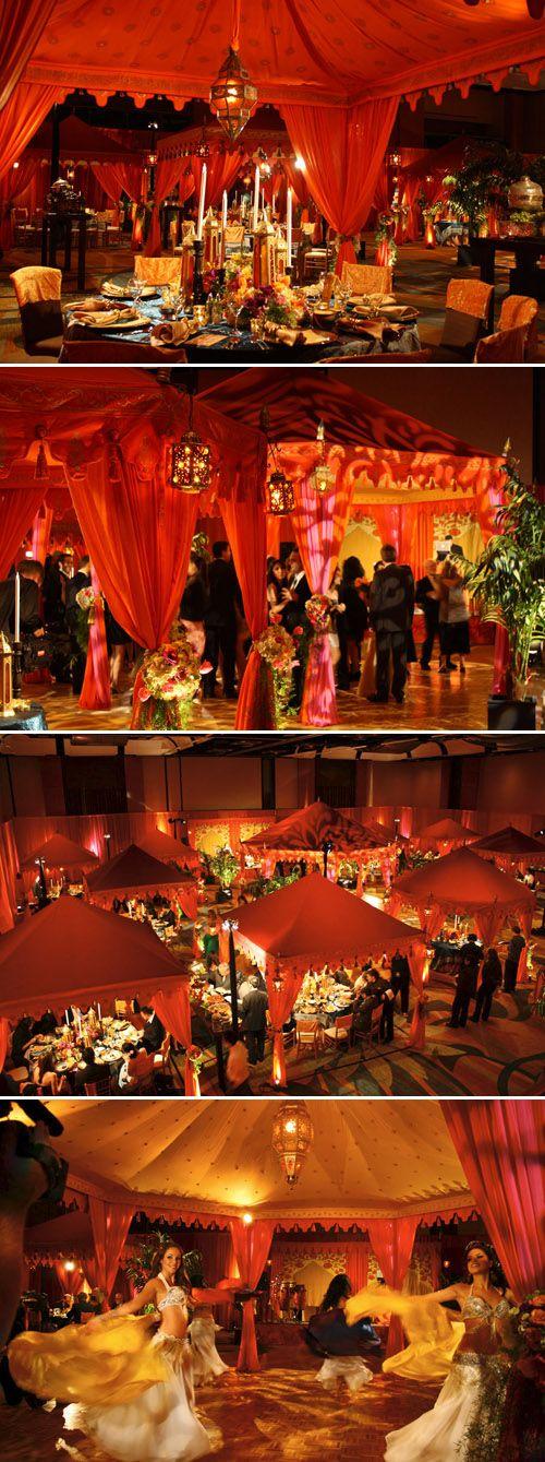 gorgeous luxury wedding tents from Raj Tents via JunebugWeddings.com