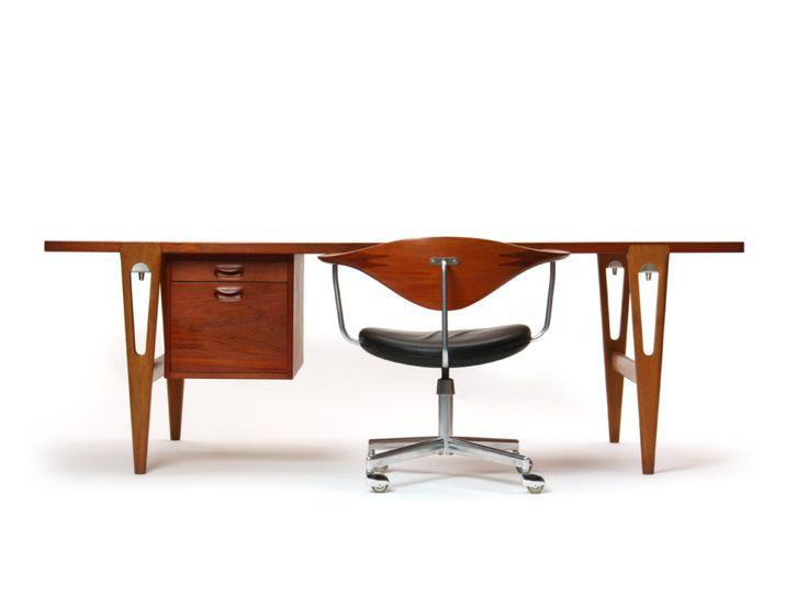 writing desk by Hans J. Wegner and Johannes Hansen