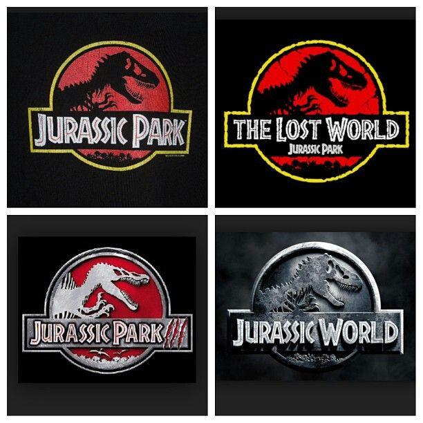 Jurassic Park trilogy logos
