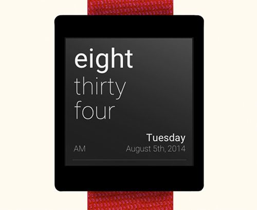 TextFace for Android Wear #typography