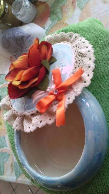 le creazione di nonna katia: Scatola in ceramica lavorata a mano con…