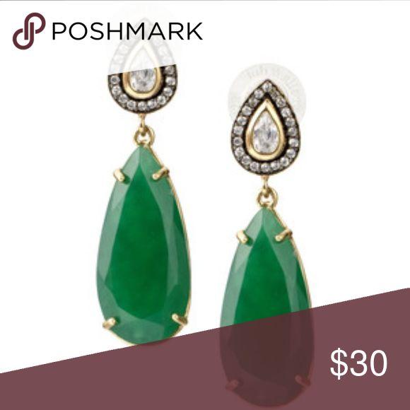 Green Stella and Dot earrings Green Stella and Dot earrings . Beautiful earrings😃 Stella & Dot Jewelry Earrings