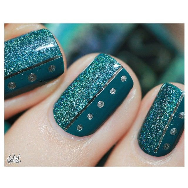 Essie Go Overboard and NCLA Drop of Teal or Teal the End. Pshiiit.com. Need to find original post.