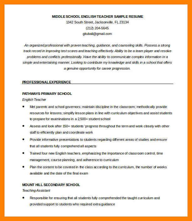 The 25+ best Teacher resumes examples ideas on Pinterest - resume for teachers examples