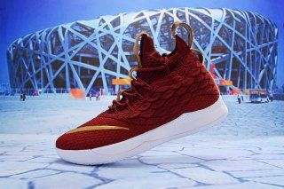 b6943699e8797 Nike LeBron 15. 5 University Red Gold White Men s Basketball Shoes James  Shoes