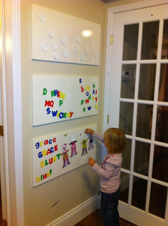 magnet wall ikea boards playroom ideas organization