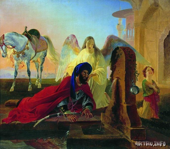 Ангел и Пери. 1840-1842. 123 142. Холст, масло.