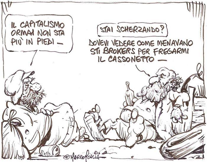 """ITALIAN COMICS - Pil, Mib, Pin, Borsa. La vita è """"una prigione"""" di numeri e denaro"""
