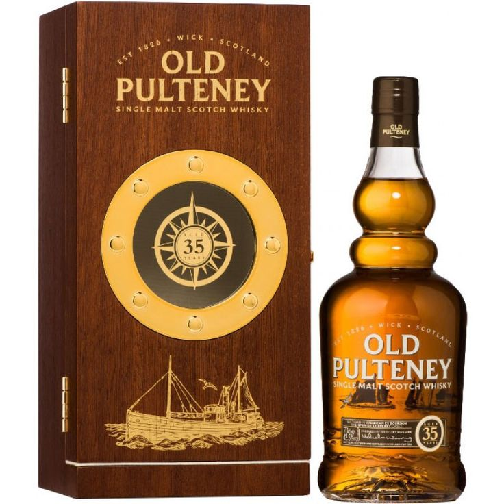 A 2014 release, Old Pulteney's 35 Year Old is a combination of ex-bourbon American oak and ex-sherry Spanish oak casks, resulting in a rich and indulgent whisky. The box has been created to reflect the distillery's maritime heritage and contains a porthole through which the bottle is visible. €711.89