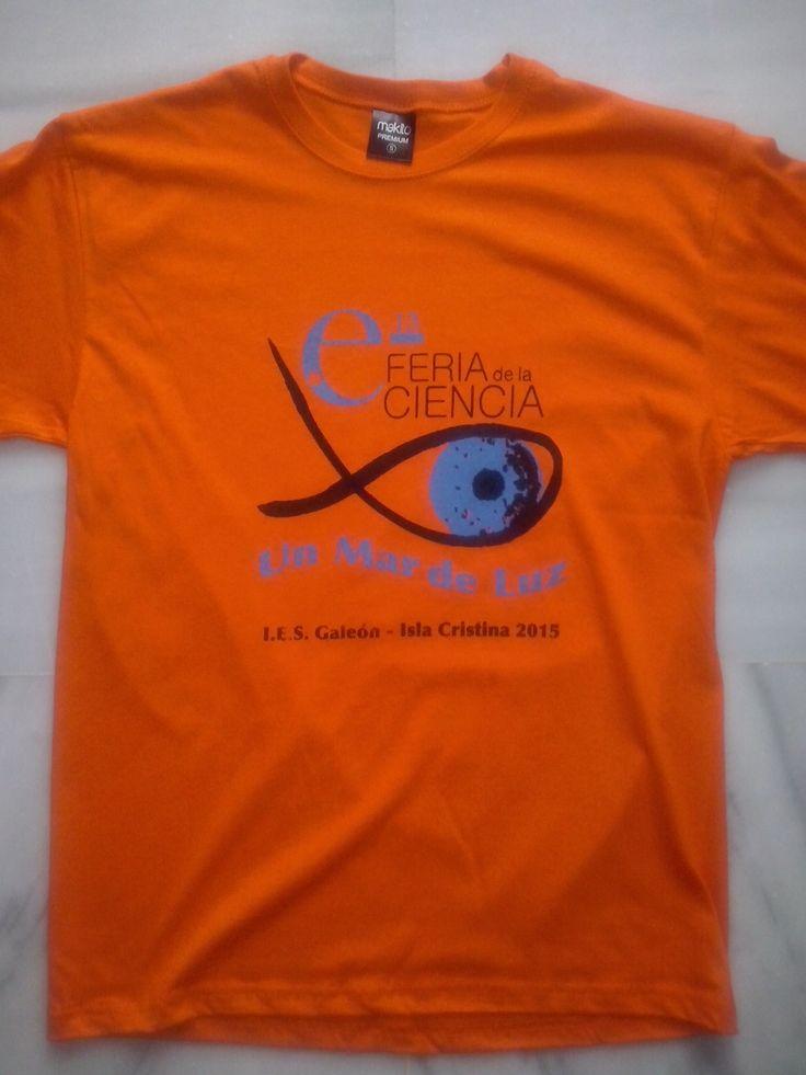 Camisetas serigrafiadas para eventos, Feria de las Ciencias en el Pabellón Fibes de Sevilla. Camisetas personalizadas con el logotipo a tu gusto. Grupo Textil. Telf. 955114744  Andaluza de Serigrafía.-  Talleres.-