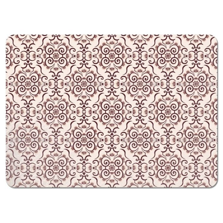 Uneekee Lace Idol Brown Placemats (Set of 4) (Lace Idol Brown Placemat) (Polyester)