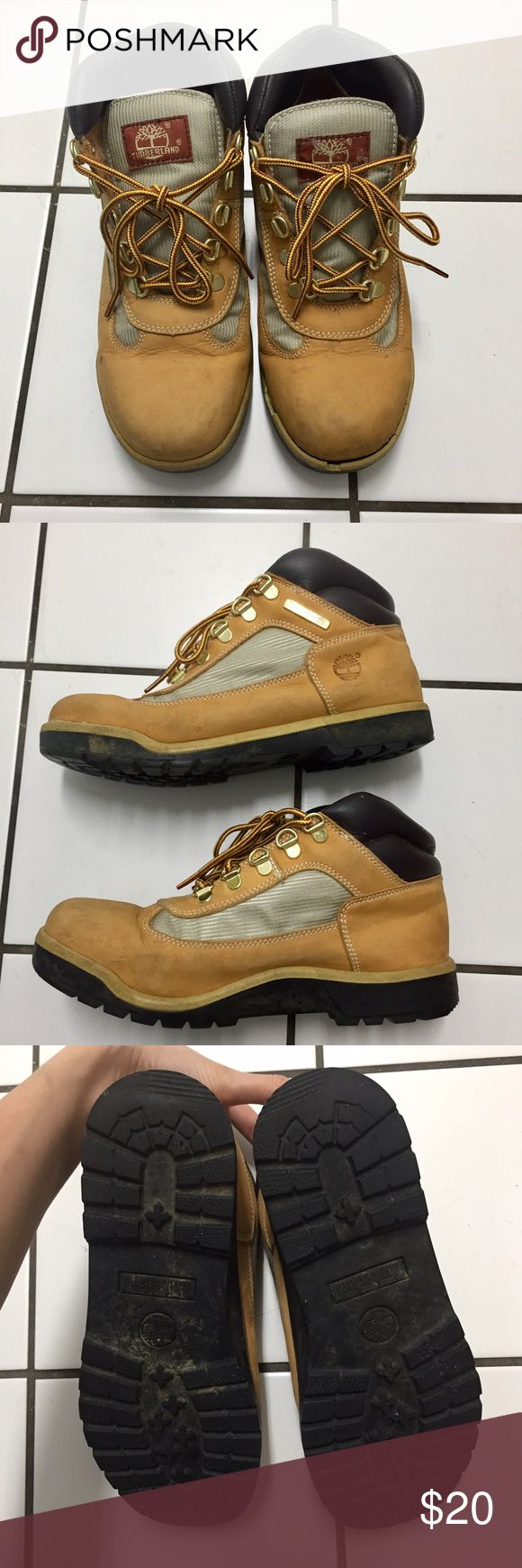 Timberland Field Boots Timberland Field Boots (Big Kids 6). Please see photo for wear. Timberland Shoes Boots