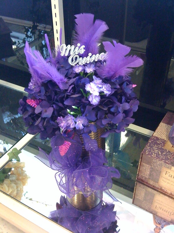 Quinceanera centerpiece arrangement ideas for my baby