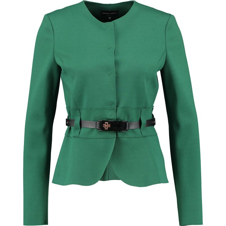 """Emporio Armani"" Green Cropped Slim Fit Jacket - TK Maxx"