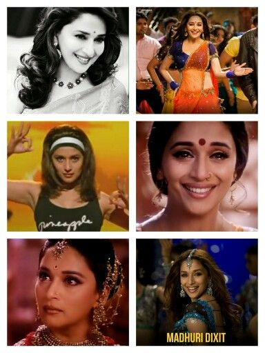 6 faces of Madhuri Dixit