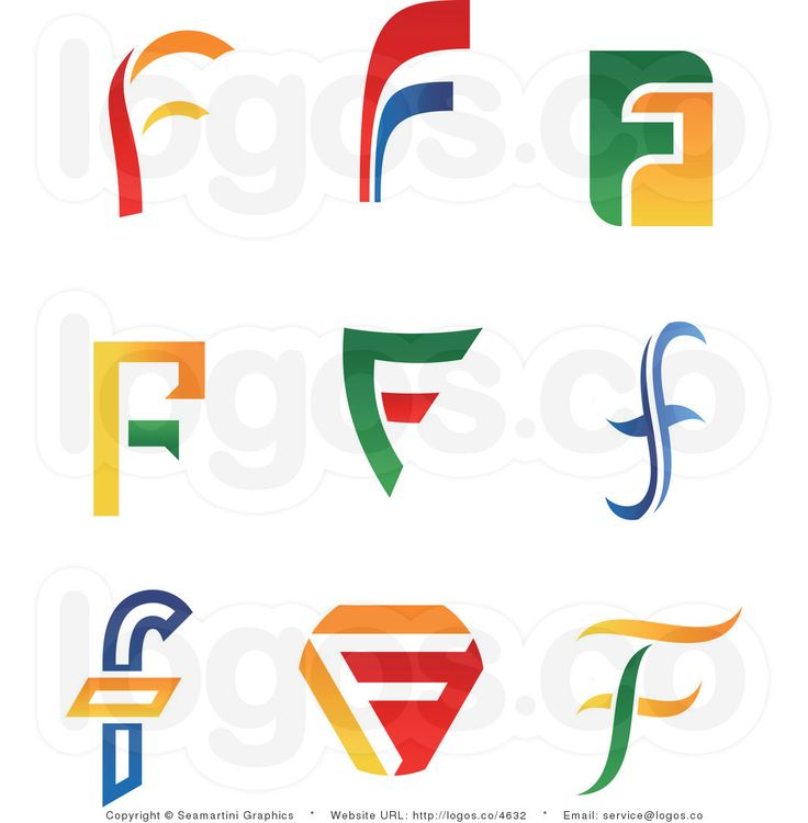 F 2012 Colorful Letter F Logos January 19th 2012