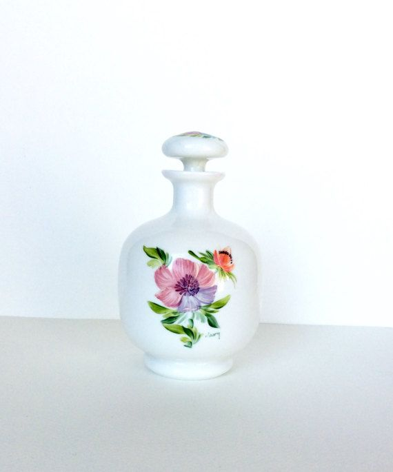 French perfume bottle. Flacon. Opaline by SouthofFranceFinds