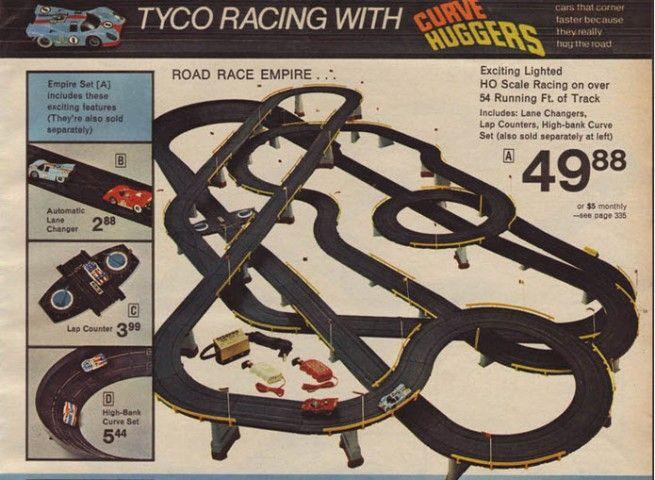 electric slot car racing set