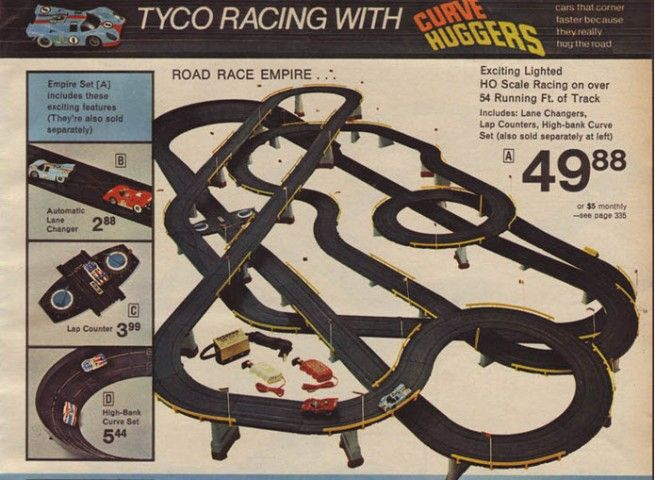 Tyco Electric Racing Slot Car Track