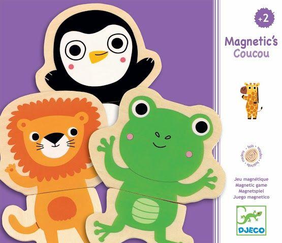 Mágneses dzsungel állatkák kirakós játék (Djeco) | Pandatanoda.hu Játék webáruház