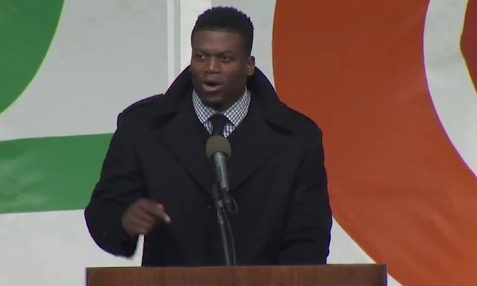 Joining hundreds of thousands of people at the March for Life today is NFL star Ben Watson.  The Baltimore Ravens tight end has been using his fame not to spe