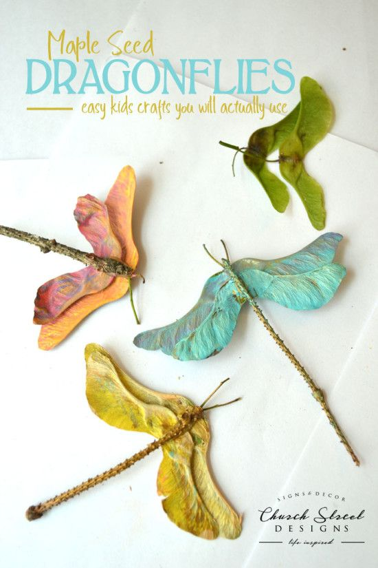 Maple Seed Dragonflies - Easy Kids Crafts You will actually use - DIY Wedding Favors - Make Your Own Party Favors - Summer Crafts - Butterfly crafts - Garden Party Decorations - Baby Shower Decorations