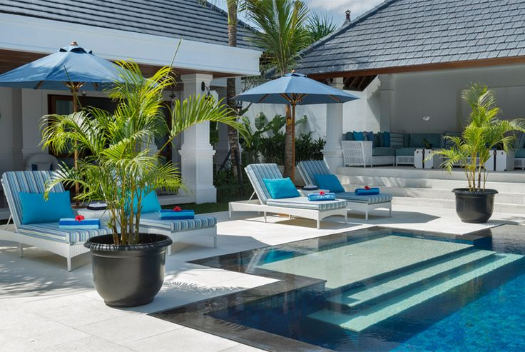 Raffles style luxury poolside at Windu Asri by Windu Villas