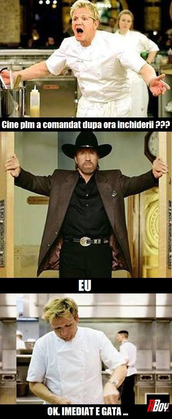 Gordon Ramsay Vs. Chuck Norris