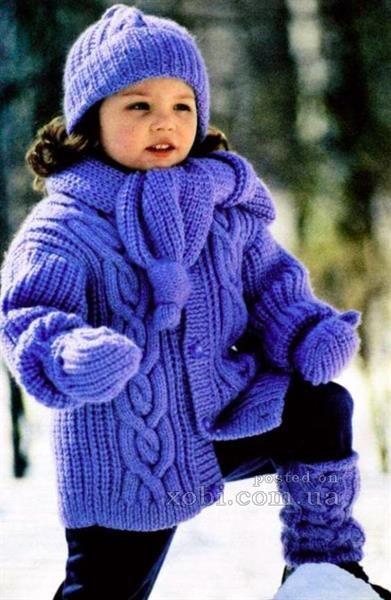 Вязание для детей шапки шарфы пальто