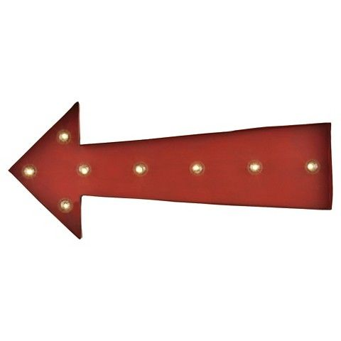 Lazy Susan 10 in. Red Arrow Marquee Sign