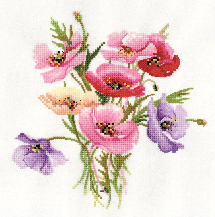 This colourful counted cross stitch kit features a lovely little posy of Poppies. A simpler design, this would be an instant hit for any lover of wild...
