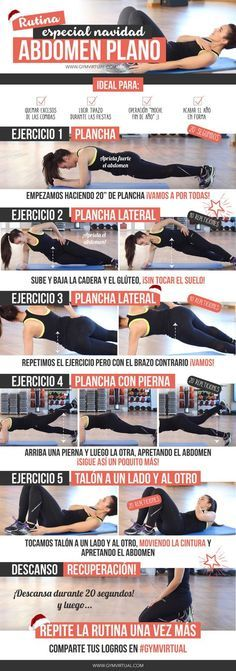 Ejercicios para tener un abdomen plano que podréis realizar en cualquier lugar. #ejercicioencasa #abs #entrenamiento #workout