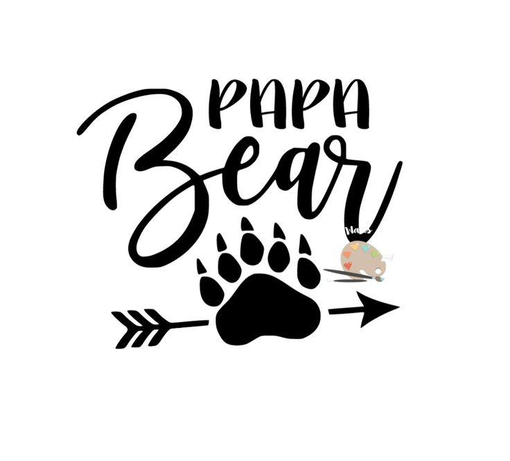 Papa Bear Svg Papa Bear Claw Arrow Svg Png Jpg Diy Mommy